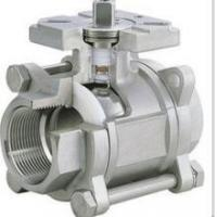 China Welding 3pc Floating Ball Valve With ISO5211 Mounting Pad , Industry Actuator Valve on sale