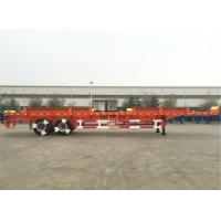 China CIMC Truck Dual Axle Flatbed Trailer ABS System Axle For Port Yard wholesale