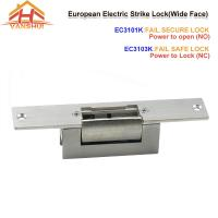 China EU Type Access Control Electric Strike Door Lock With Wide Face with NO/NC wholesale