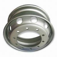 China Tubeless Rims, Measures 22.5-inch in Diameter, with 10pcs Bolt Holes, Steel Wheels for Truck on sale