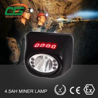 China CE ATEX MSHA approved led miners cap lamp cordless with digital screen wholesale