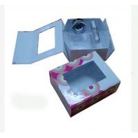China 8.6 * 7 * 2.8 Inch Coated Paper Folding Gift Boxes With Pet Window For Package wholesale