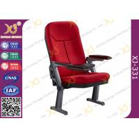 China Foldable Aluminum Leg Auditorium Seating Chairs Tip Up Seat With ABS Tablet wholesale