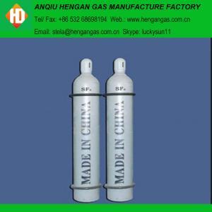 China sulphur hexafluoride msds/ SF6 gas 99.999% SF6 gas on sale