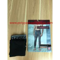 Buy cheap Factory custom men's underwear, packaging plastic bag with hook from wholesalers