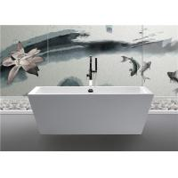 China Clear Luxury Square Freestanding Bathtub Rectangular Corner Tub Pure Color wholesale