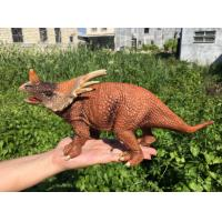 China L30*W10*H14 Walking Triceratops Toy / Plastic Triceratops Dinosaur Toy wholesale