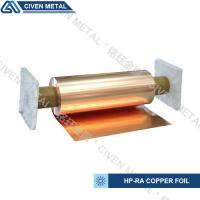 High Conductivity Surface Degreasing Copper Foil Roll , Tolerances ±0.001