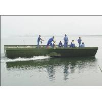 China 104m Prefabricated Military Pontoon Floating Bridge / Boats For Tank, Artillery wholesale