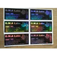 Buy cheap Black GMA Labs Medicine Bottle Label DECA/ TEST E 300 Laser Vial Stickers from wholesalers