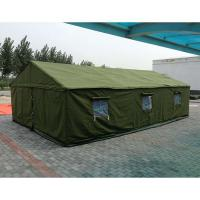 China Anti - Water Polyster Canvas Camping Tent  , Canvas Military Tent For 10 Persons wholesale
