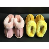 Buy cheap Tan Suede Sheepskin Slippers Winter Women Chestnut Classic Sheepskin Slippers from wholesalers