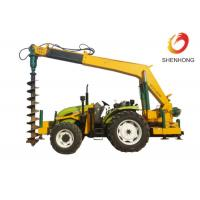 China Tower Erection Tools 100HP Tractor Mounted Digger Machine With Crane / Auger wholesale