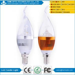 China Hot sales E14/E27 4W LED candle light 3000-6500K AC85-265V wholesale