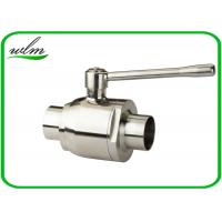 China High Sealing Sanitary Butt Weld Ball Valves With Bright Annealing Surface Treatment wholesale