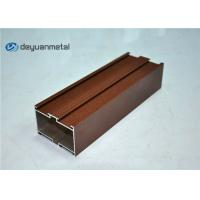 China Red Powder Coated Wood Grain Aluminum Profiles For Construction wholesale