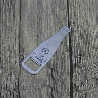 China Good Quality Beer Pasta Promotion Gift Stainless Steel Bottle Shape Bottle Opener with Engraved Logo wholesale