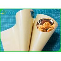 Buy cheap 100% Greaseproof PE Laminated Brown Kraft Paper For Food Wrapping from wholesalers