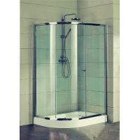 China Compact D Shaped Quadrant Shower Enclosures 4 Ft Small Corner Shower Stalls wholesale