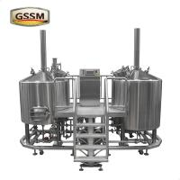 China 3mm Steam Heated Pub Brewhouse , 15 BBL Stainless Steel Micro Brewing Equipment wholesale