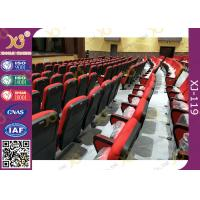 China Red Color Plastic Church Chairs / Conference Auditorium Hall Seats wholesale