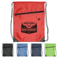 China Red Durable Printed Drawstring Bags / Promotional Drawstring Backpacks on sale