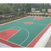 China Thick Waterproof Rubber Flooring , Volleyball Court Rubber Flooring For Basement wholesale