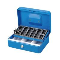 China Customized Antitheft Metal Cash Box Euro Money Safe With Removable Coin Tray wholesale