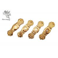 China Gold Funeral Coffin HardwareBracket Matching With Screw , Casket Hardware Suppliers wholesale