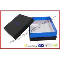 Buy cheap Elegant Black gift box with top and base, customized logo with blister tray gift packing box from wholesalers