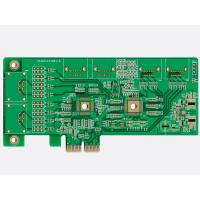 """Buy cheap Green Low Cost PCB Fabrication Four Layer PCB Design Au 30U"""" Gold Fingers from wholesalers"""