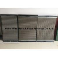 China Light Weight Shale Shaker Mesh Screen , Flat / Pinnacle Shaker Screens Manufacturers wholesale