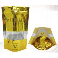 China Gold Orangic Food Metalized Resealable Stand Up Ziplock Bags PET / PETVM / PE wholesale