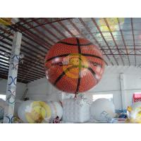 China Fire Proof Sporting Inflatable Basketball Giant EN71 With Helium wholesale