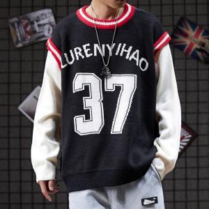 China Small batch clothing manufacturers OEM Skateboard Baseball Fake Two Piece Sweater wholesale