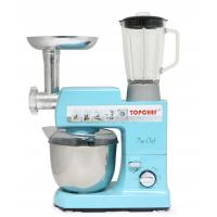 All In One Electric Cake Stand Mixer 5.5Qt 13000W Blue Food Mixer With Tilt Head