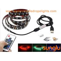 China USB Powered 5V RGB Black Flexible LED Strip Lights for TV Back Lighting , Desk , Trucks wholesale