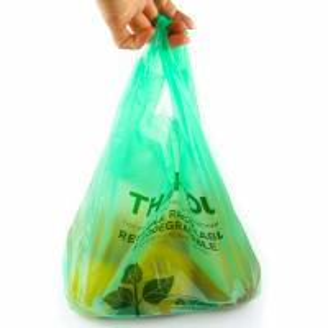 China 40 % Bio Based Biodegradable Plastic Shopping Bags , Eco Friendly Plastic Bags wholesale