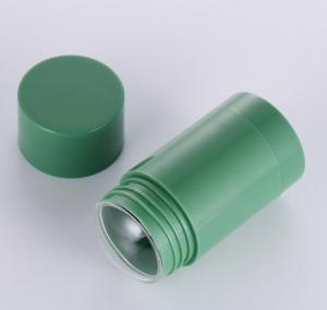China 1oz 1.7oz Twist Up Refillable Deodorant Containers Green Color wholesale