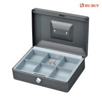 China 6 Cell Money Bank Box With Key Lock , Grey Color Money Storage Safes wholesale