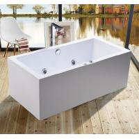 China 1600mm Indoor Contemporary White Soaking Freestanding Bath Tub / Indoor Jacuzzi Hot Tubs wholesale