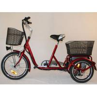 China Front Basket Adult Electric Tricycles Rear Cargo , 3 Wheel Electric Bicycle wholesale