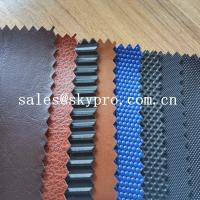 China 100% PU Synthetic Leather With Colorful Printed Fabric PVC Solid Colors Synthetic Leather on sale