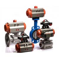 Single Acting / Double Acting Pneumatic Rotary Actuator Spring Return Orange Color