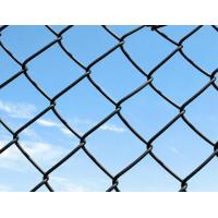 China Stability Hot Dipped Galvanized Chain Link Fence Blue / Green 6 Foot Metal Fence wholesale