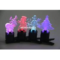 China Color Changing Battery Operated LED Christmas Candle Lights , Decorative Clip Candles on sale
