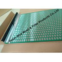 China 40 - 400 Mesh Flat Oil Vibrating Screen For Model 500 Shale Shaker Mud Cleaner wholesale