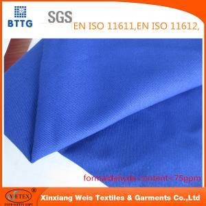 China YSETEX EN470-1 EN531 320gsm flame retardant fabric in royal blue color on sale