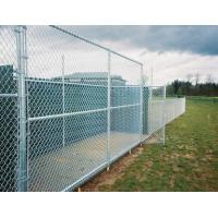 China Easy Install Green PVC Coated Wire Mesh Fencing , Security Chain Link Fence wholesale