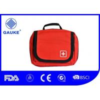 China Red Color Car First Aid Kit Refills , Nylon First Aid Bum Bag With Small Alcohol Pad wholesale